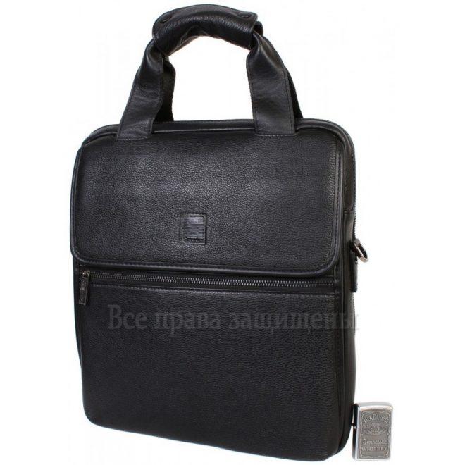 88da760190d1 ... Повседневная наплечная сумка из натуральной кожи черного цвета с ручкой  для современных мужчин Savio. h.t-leather-mens-bags-41002-1100×900